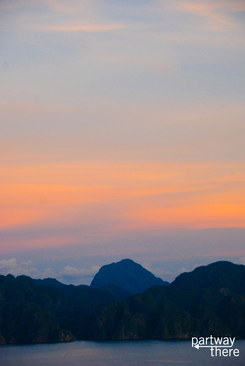 Coron, Philippines at sunset from Mt Tapyas
