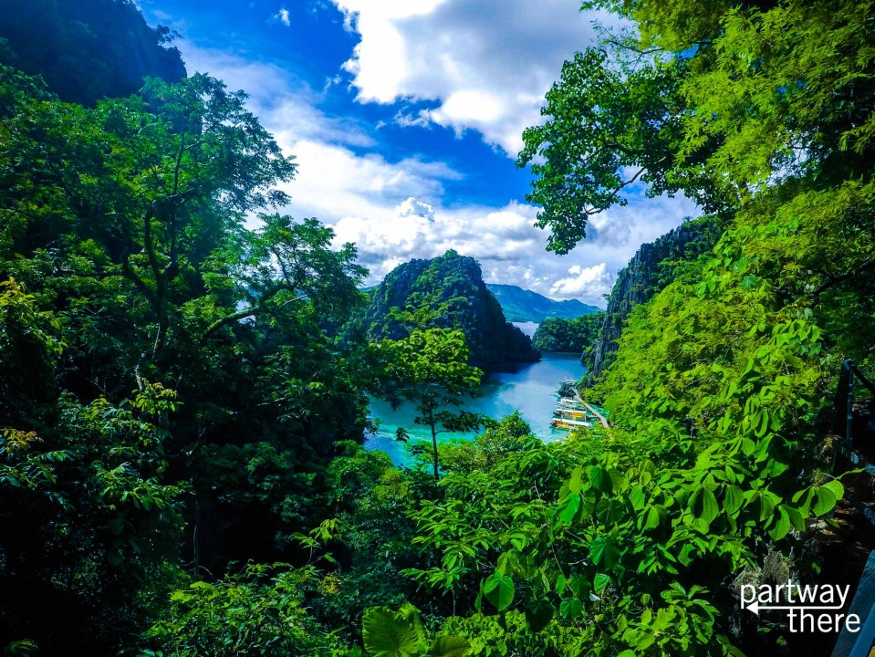 The view from Kayangan Lake in Coron, Philippines, taken with a GoPro.