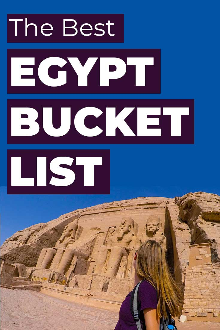 The best Egypt Bucket List with what you should do while you're in Egypt