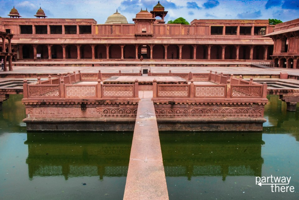 Inside the palace at Fatehpur Sikri