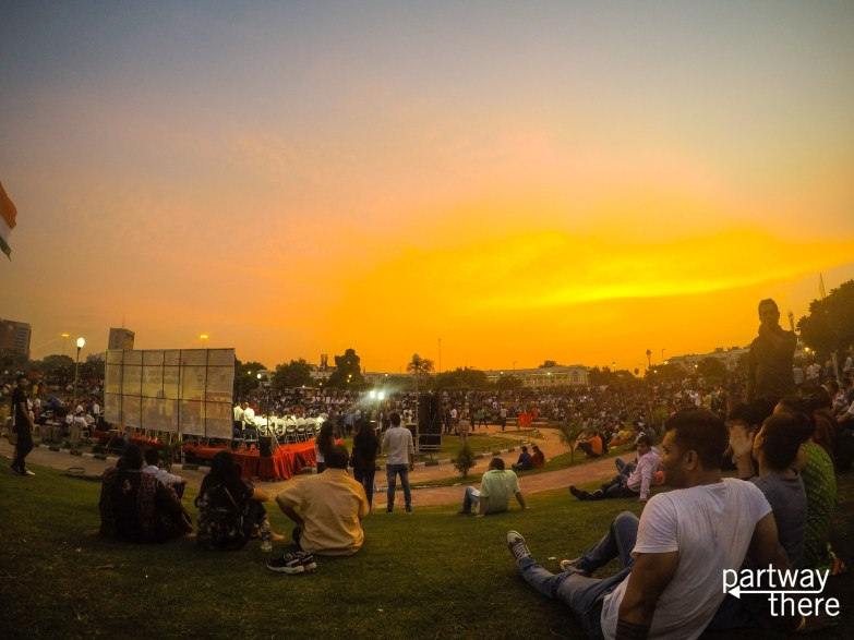 Sunset concert at Connaught Place, Delhi