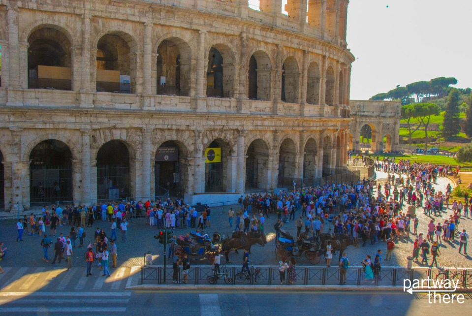 Summer crowds at the Colosseum