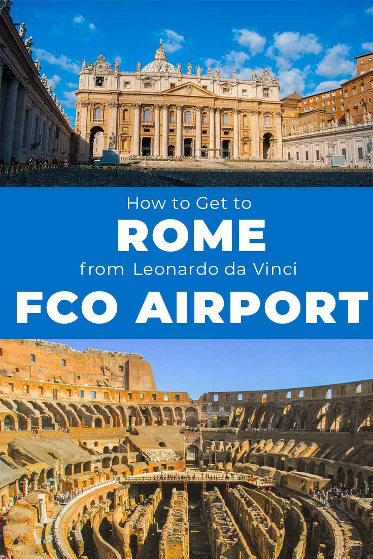 How to get to Rome from FCO airport