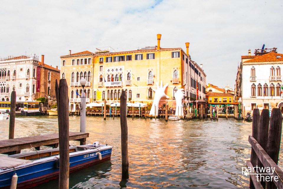 A public art installation in Venice