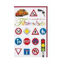 Edle karte, die jemanden beglückwünschen soll, der eine prüfung (abitur, führerschein.) bestanden hat! Prüfung, Abitur und Führerschein: Dekoration ...