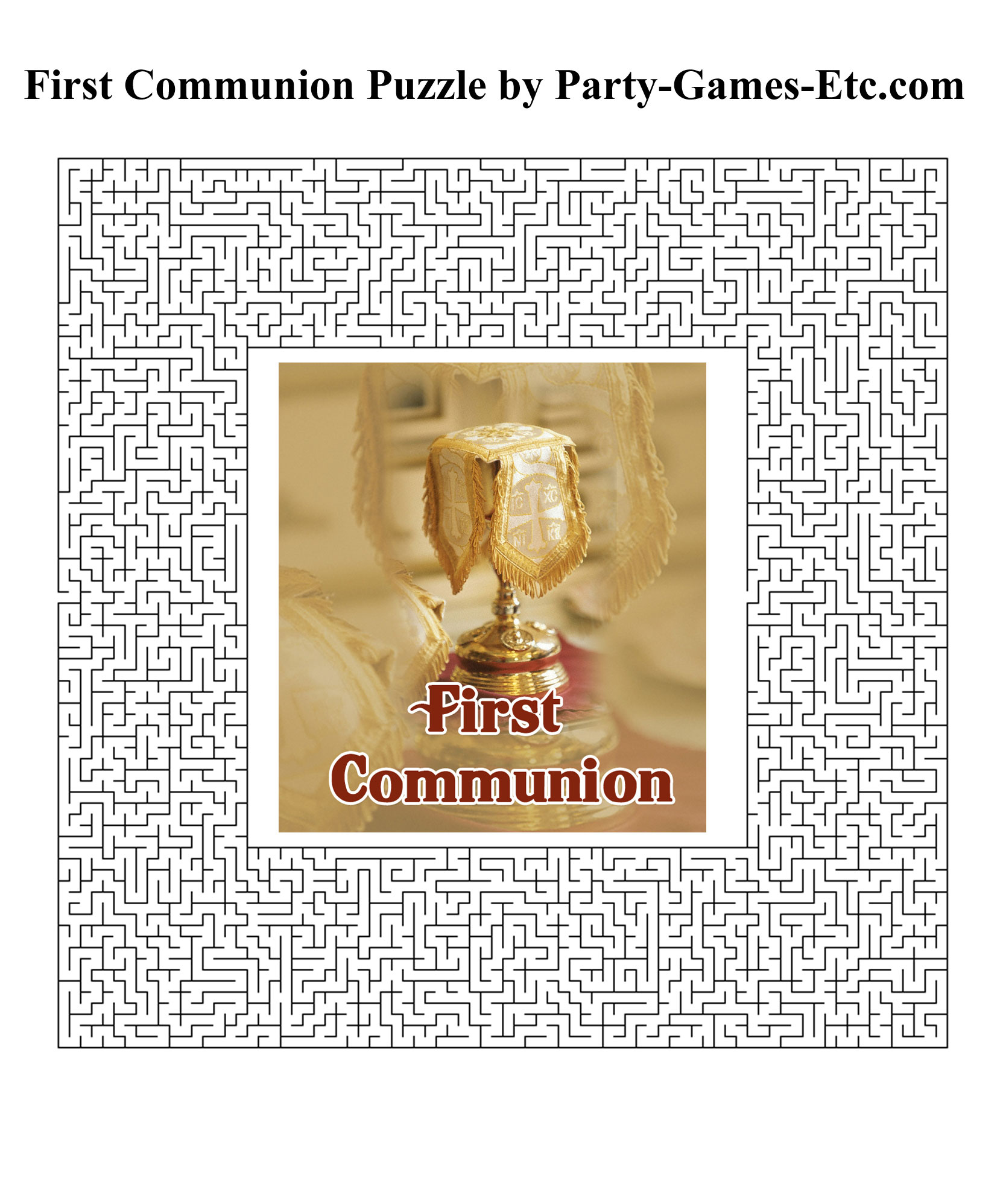 First Communion Party Games Free Printable Games And