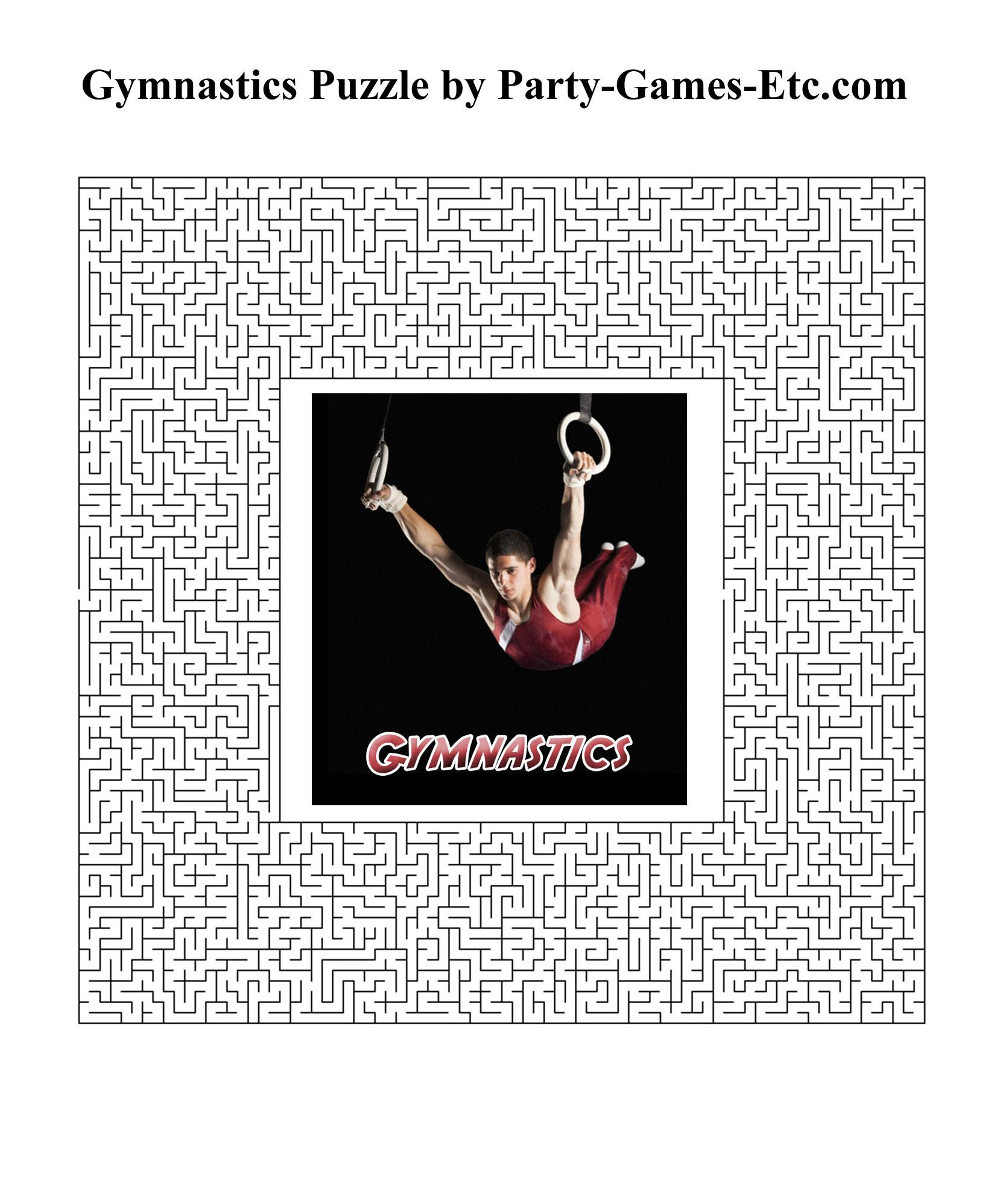 gymnastics party games free