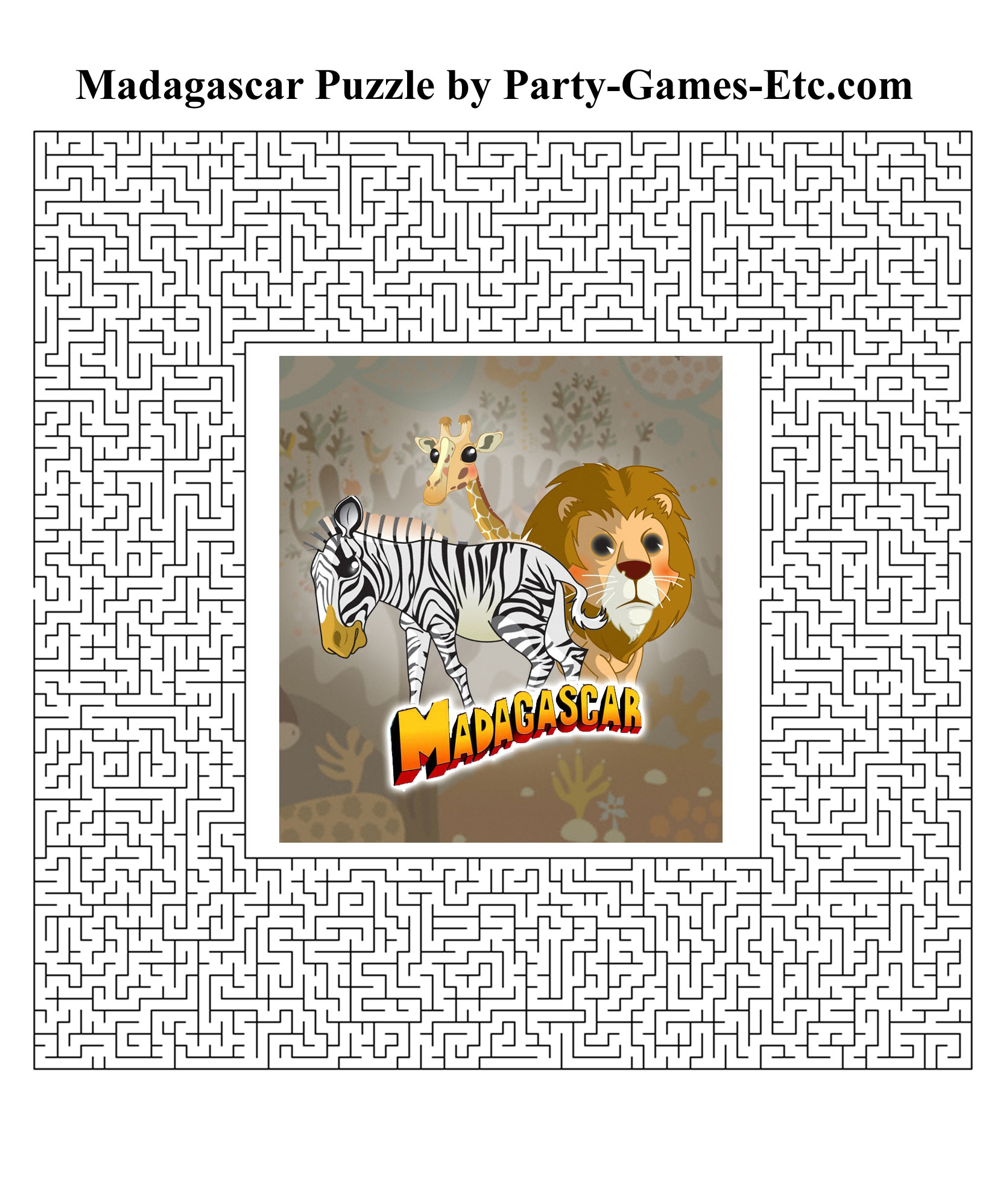 Madagascar Party Games Free Printable Games And Activities For A Theme Celebration