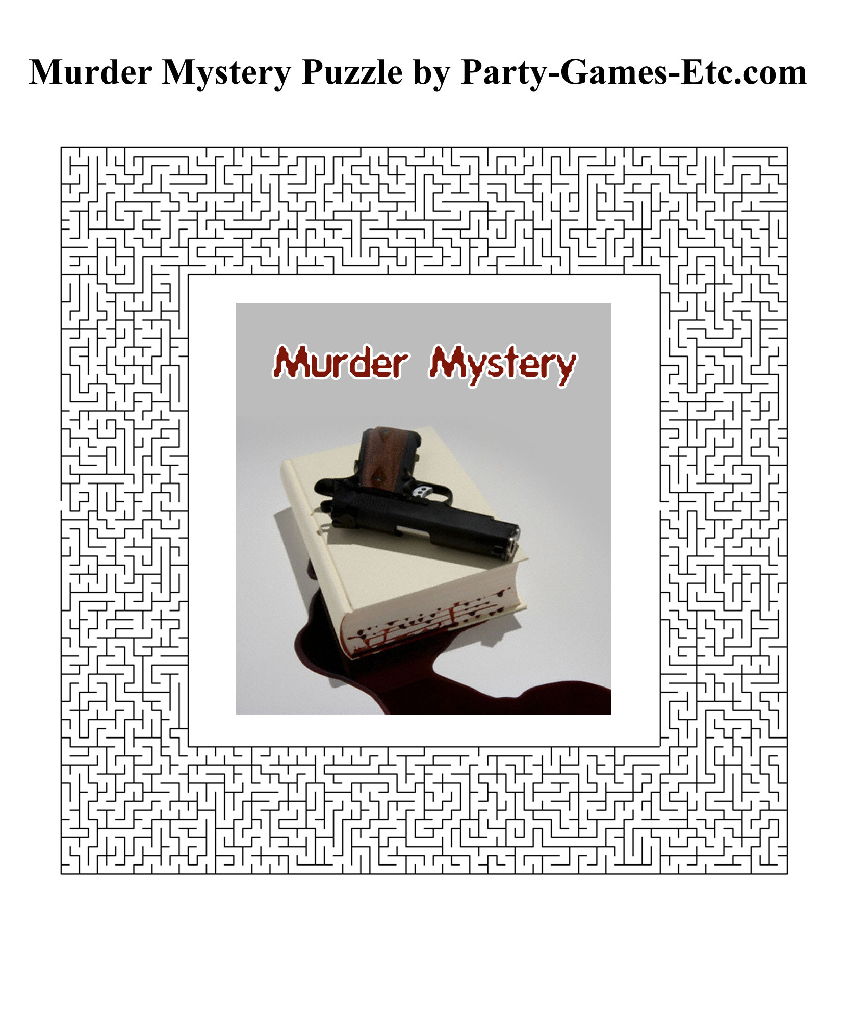 Murder Mystery Party Games Free Printable Games And