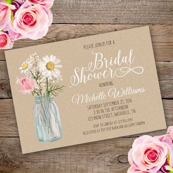 Country Bridal Shower Invitation Template Edit With Adobe Reader