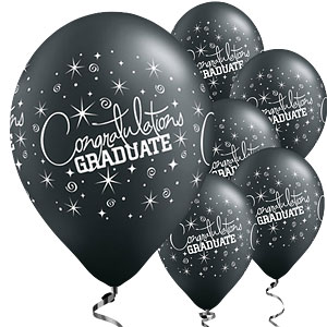 Black Graduation Balloons