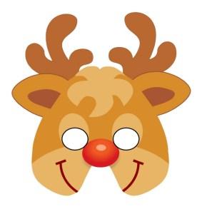 Rudolf reindeer mask