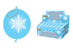 Snowflake Punch Balloons