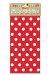 Red Paper Party Bags with Polka Dot design