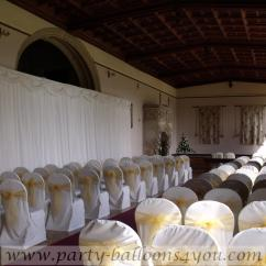 Black Chair Covers To Hire Stool Online India Party Balloons 4 You Bristol Professional Venue Decorator And White Cream Cover For Weddings In