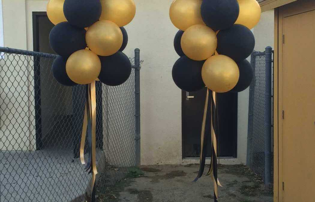 Calabasas High School football spirit custom balloon party poles