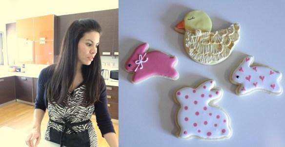 Easter bunny cookies royal icing πασχαλινα μπισκοτα κουνελάκια αυγόγλασο