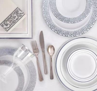 White Silver Premium Tableware