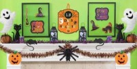 Halloween Wall & Window Decorations  Cutouts, Spooky Gel