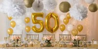 Golden 50th Wedding Anniversary Party Supplies