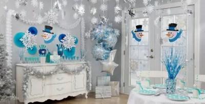 Snowflakes & Snowman Theme Party
