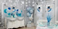 Snowflakes & Snowman Theme Party