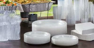 CLEAR Plastic Tableware