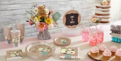 Rustic Wedding Party Supplies  Wedding Tableware  Party City