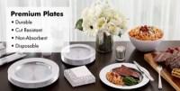 CLEAR Premium Tableware - Clear Premium Plastic Plates ...