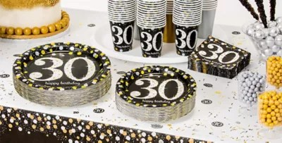 Sparkling Celebration 30th Birthday Party Supplies