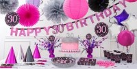 Pink Sparkling Celebration 30th Birthday Party Supplies ...