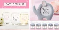 Pink Baby Elephant Baby Shower Party Supplies - Party City