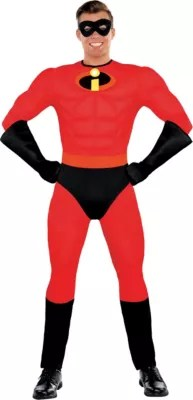 Adult Mr Incredible Muscle Costume The Incredibles