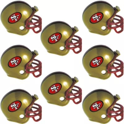 San Francisco 49ers Helmets 8ct Party City