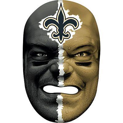 New Orleans Saints Fan Face Mask Party City