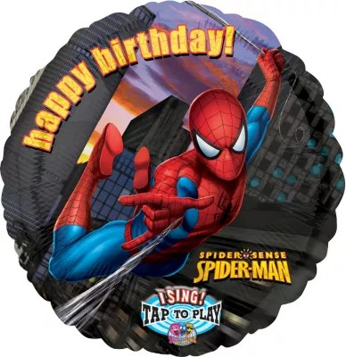 Singing Happy Birthday Spider Man Balloon Party City