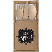 Let's Eat Kraft Paper Cutlery Holders 16ct - Party City