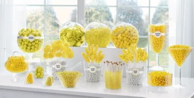 Yellow candy buffet supplies yellow candy amp containers party city