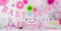 Welcome Baby Girl Baby Shower Decorations | Party City