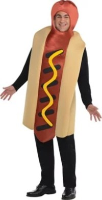 Adult Hot Diggity Hot Dog Costume Plus Size - Party City