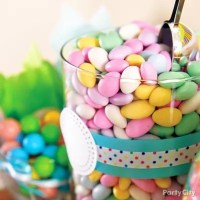Baby Shower Candy Buffet Pastel Jordan Almonds Idea