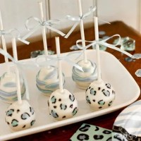 Boy Baby Shower Jungle Theme Cake Pops Idea