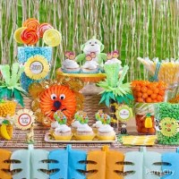 Jungle Theme Baby Shower Candy Buffet Idea - Party City