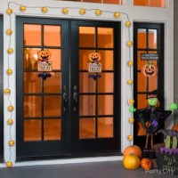 Pumpkin Lights Door Decorating Idea - Party City