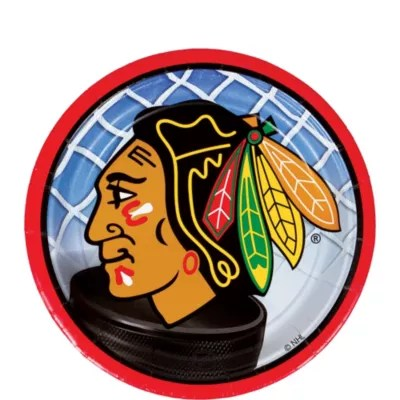 Chicago Blackhawks Appetizer And Dessert Plates 8ct