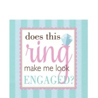 Something Blue Engagement Lunch Napkins - Party City