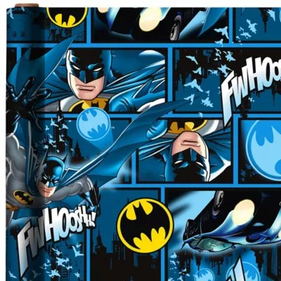 Batman Gift Wrap 8ft x 30in  Party City