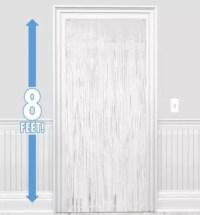 White Fringe Doorway Curtain 3ft x 8ft