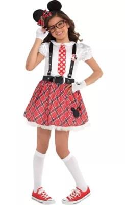 Strawberry Girl Cartoon Wallpaper Girls Minnie Mouse Nerd Costume Party City