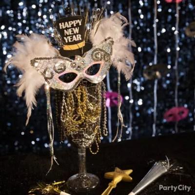 NYE Masquerade Centerpiece Idea Party City